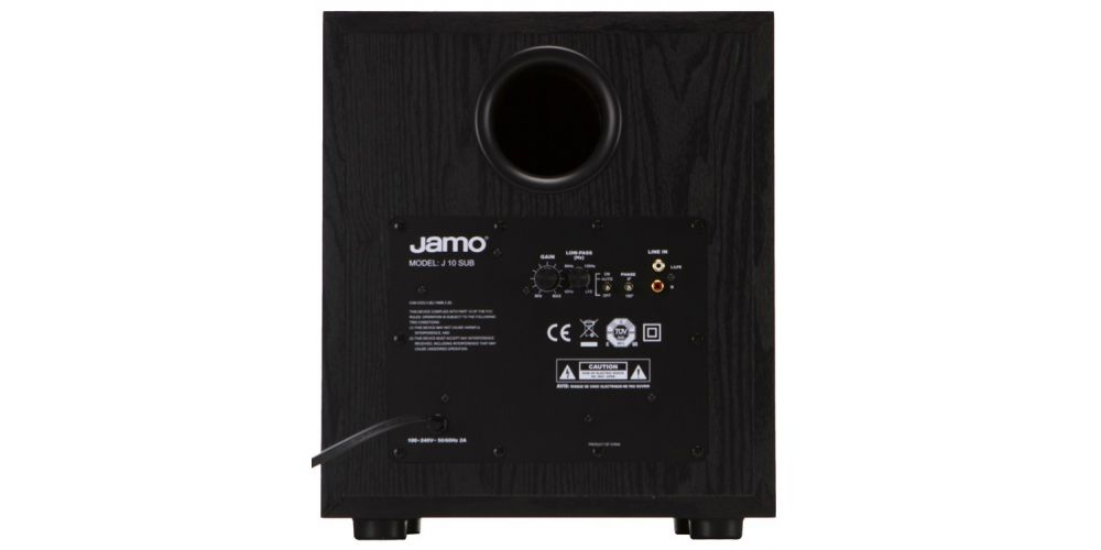 jamo sub j10 black conexiones