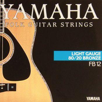 YAMAHA FB12 Cuerdas Guitarra Acustica 0.12-0.53