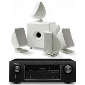 DENON AVR-X520 BK + Focal SIB-CUB 3 5.1 Blanca