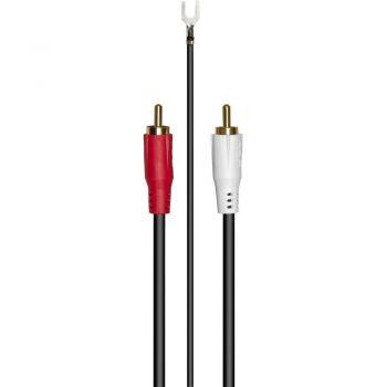 RCA Phono Cable 1,5 metros RCA-RCA  toma de Masa