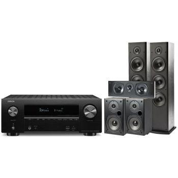 Denon equipo AV AVR-X2500 + Polk Audio T50 + T30 + T15 Altavoces Home Cinema