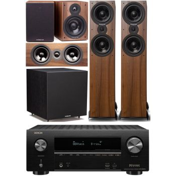 Denon AVRX2600+Cambridge SX80 walnut Cinema Pack 5.1 Conjunto AV