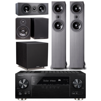 Pioneer VSX933+Cambridge SX80 BK Cinema Pack 5.1 Conjunto Home cinema
