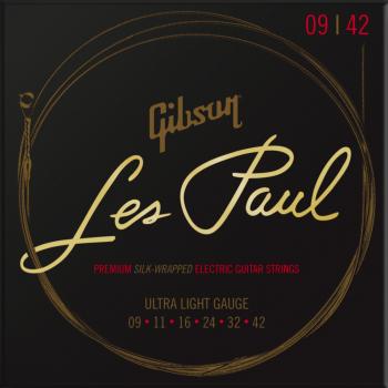 Gibson Les Paul Premium Electric Guitar Strings Ultra-Light Cuerdas para Guitarra Eléctrica