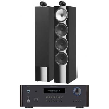 ROTEL RA-1592 Black+ Bower Wilkins 702 bk conjunto audio
