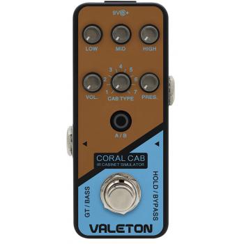 Valeton Coral CAB Pedal de Efectos para Guitarra y Bajo Eléctrico
