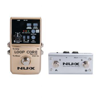 Nux Loop Core Deluxe Bundle Pedal Looper/Controlador