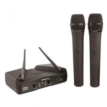 Proel WM202DM Microfono Inalambrico Doble de Mano