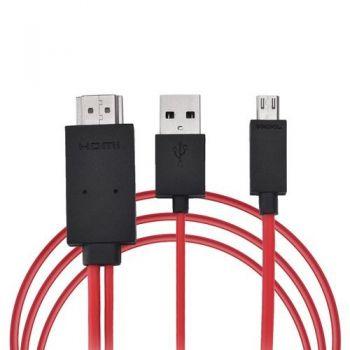 Adaptador MHL a  HDMI  Conecta tu S4, S3, Note3 al Televisor. 1.5 metros