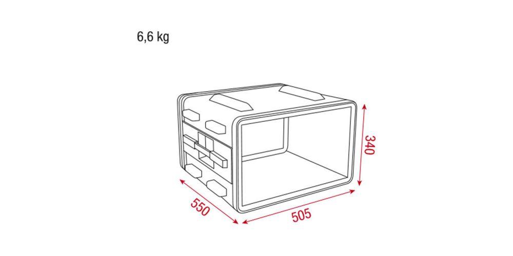 Dap Audio Rack 6U ABS 19 D7103