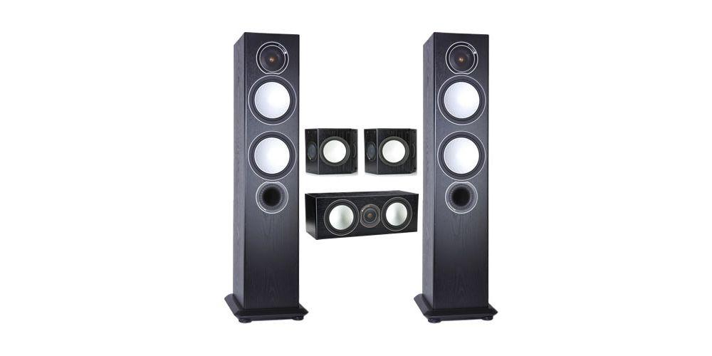 Monitor Audio Silver 6 AV 12 silver6 black silver fx silver centre