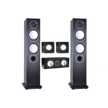 MONITOR AUDIO,SILVER 6-AV-12 BK, SILVER 6 + SILVER CENTER + SILVER FX