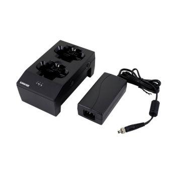 SHURE SBC200-E Cargador doble tipo Dock, permite la carga directa de transmisores/re