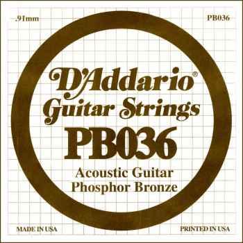 D´addario PB036 Cuerda Suelta para Guitarra Acústica