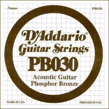 D´addario PB030 Cuerda Suelta para Guitarra Acústica