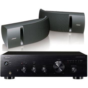 Pioneer A-10K+Bose161 Black Conjunto audio