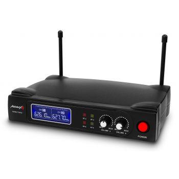 Audibax Sidney 500 B Micrófono Inalámbrico Profesional  UHF Doble Mano + Maleta