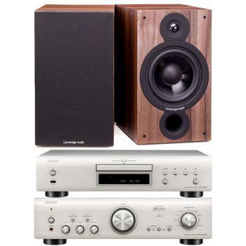 Denon PMA-800AE Silver+DCD800 Silver+SX60 Walnut Conjunto Sonido