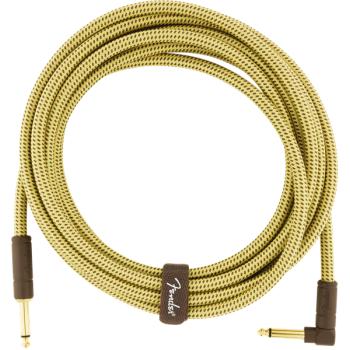 Fender Deluxe Cable Tweed Natural Jack Mono a Jack Mono Acodado. 4.5 metros