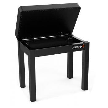 Audibax KB200B Banco para Piano/Teclado con Compartimento Almacenamiento