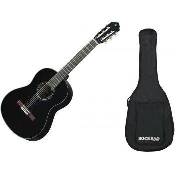 YAMAHA C-40BL ll Guitarra Clasica Negro + Funda Rockbag