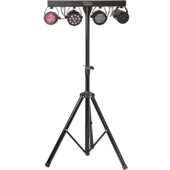 Ibiza Light DJ LIGHT 85 LED SOPORTE DE ILUMINACION CON PROYECTOR PAR, STROBO, MOON Y LASER