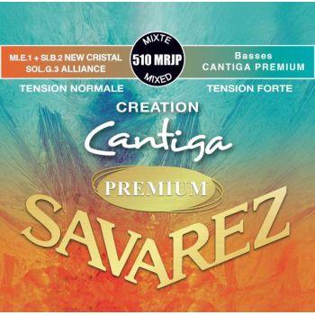 Savarez 510-MRJP New Cristal Cantiga Premium Roja/Azul Set Cuerdas Guitarra Clasica