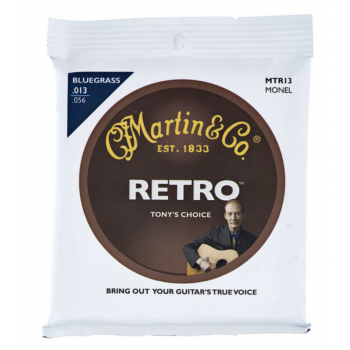 Martin MTR13 Cuerdas Guitarra Acústica Retro Tony Rice Bluegrass 13-56