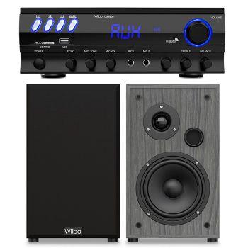 Equipo HiFi Multimedia Karaoke Wiibo Opera 30 + Altavoces HiFi Estantería STRING 15