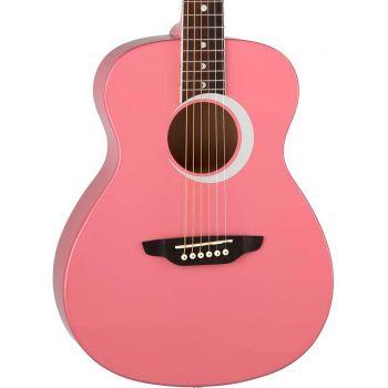 Luna Guitars Aurora Borealis 3/4 Pink. Guitarra Acústica