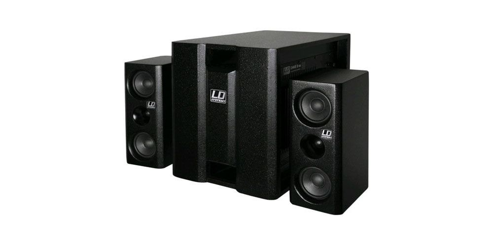 LD SYSTEMS DAVE 8 XS NEGRO Sistema 2.1 Amplificado 8