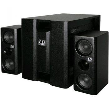 "LD SYSTEMS DAVE 8 XS NEGRO Sistema 2.1 Amplificado 8"" 150 W + 200 W"