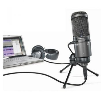 AUDIO TECHNICA AT-2020USB+ Micrófono USB Cardioide de Condensador