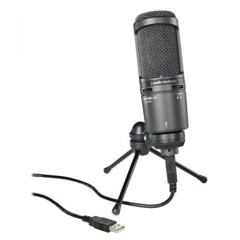 AUDIO TECHNICA AT-2020USB+ Micrófono USB Cardioide de Condensador