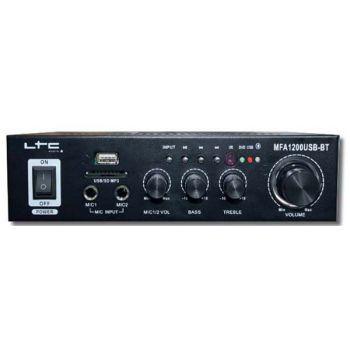 LTC MFA1200USB BT BL Amplificador Karaoke Bluetooth 2*50W