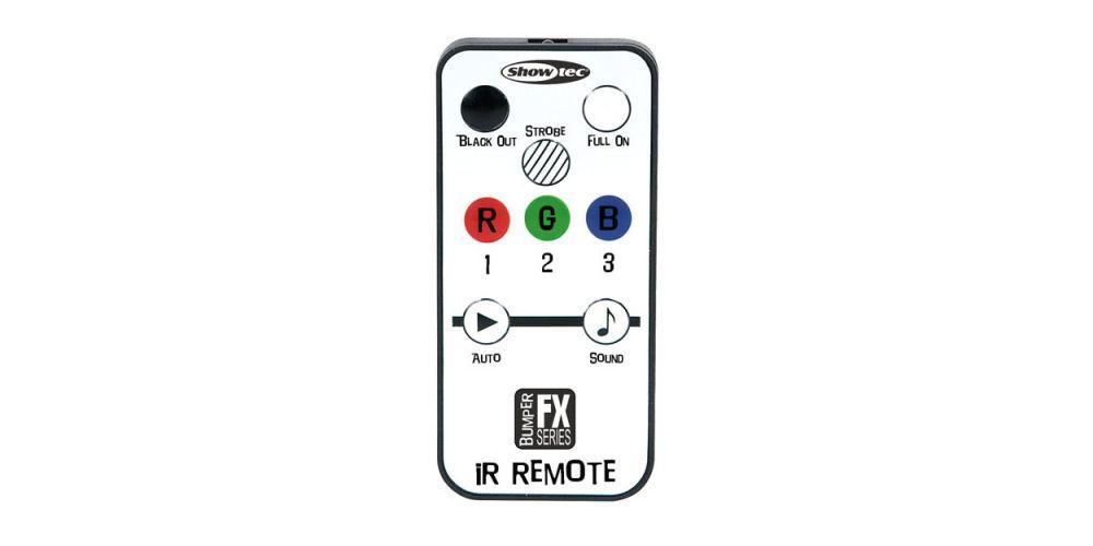 showtec bumper strobe led remote