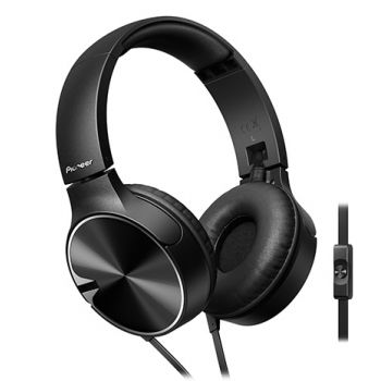 pioneer se mj722t k auriculares negro control graves