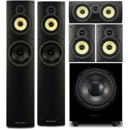 wharfedale system 4 conjunto home cinema subwoofer WHD8