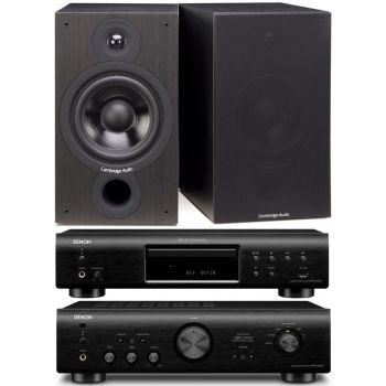 DENON PMA720-BK+DCD720-BK+Cambridge SX60 Black