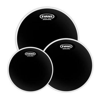 Evans Pack Black Chrome Standard 12, 13 y 16 ETPCHRS