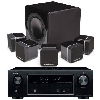 Denon AVRX1400+MINX12 BLACK Cinema Pack + X201 SUB