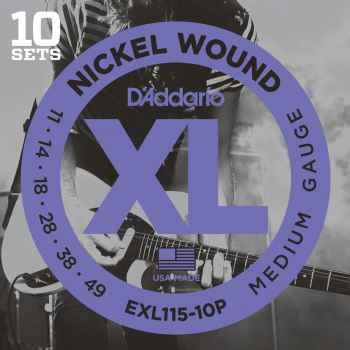 D´addario EXL115-10P Cuerdas para Guitarra electrica