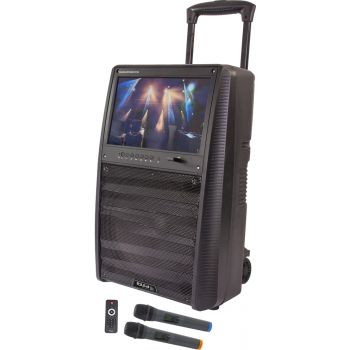 IBIZA SOUND PORT TFT12 Altavoz Portatil con Bateria, BT y Pantalla TFT