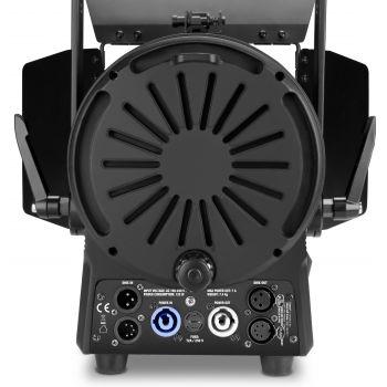 Cameo TS 100 WW Foco para teatro con lente Fresnel y LED blanco cálido de 100 W en una carcasa negra