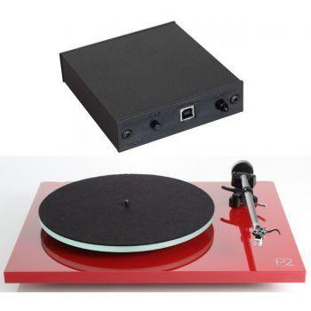 REGA Planar 2 Rojo+A2D Previo Phono