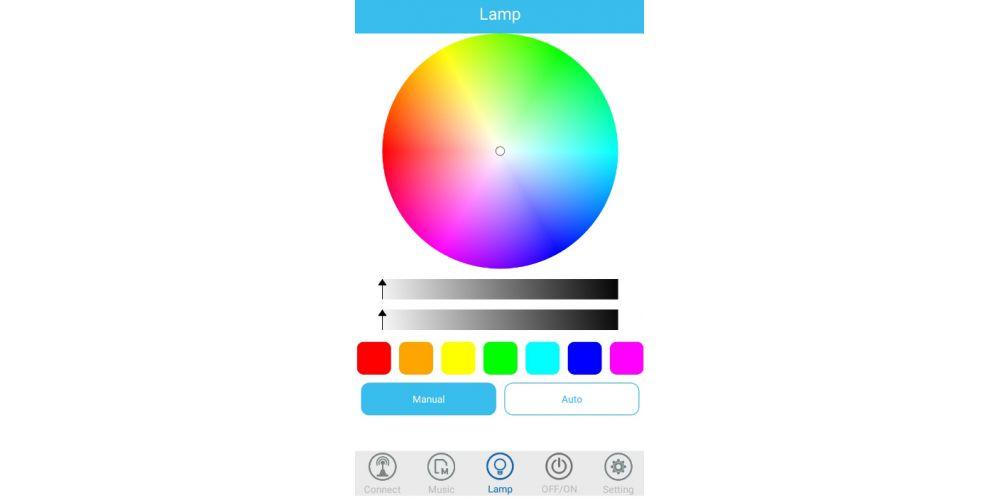 bombilla led colores aplicacion