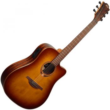 LAG T118ASCE-BRS Guitarra Electro Acústica Tipo Auditorium Slim con Cutaway Serie Tramontane