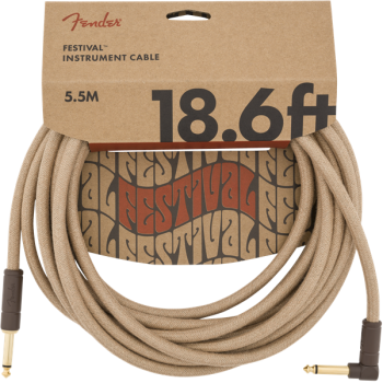 Fender Cable Angled Festival Instrument Pure Hemp 6 metros Natural