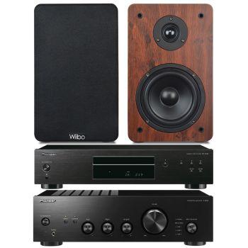 Pioneer A-10AEK+PD10AE Black+Wiibo Karino 200 Conjunto Audio