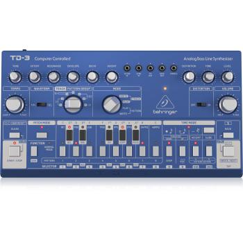 Behringer TD-3-BU Sintetizador Analogico Azul